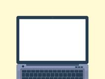 Επίπεδη απεικόνιση σχεδίου lap-top Στοκ εικόνες με δικαίωμα ελεύθερης χρήσης