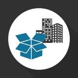 Επίπεδη απεικόνιση του ελεύθερου σχεδίου παράδοσης, editable διάνυσμα Στοκ φωτογραφίες με δικαίωμα ελεύθερης χρήσης