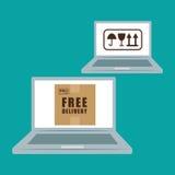 Επίπεδη απεικόνιση του ελεύθερου σχεδίου παράδοσης, editable διάνυσμα Στοκ εικόνα με δικαίωμα ελεύθερης χρήσης