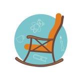 Επίπεδη απεικόνιση του λικνίσματος της καρέκλας Στοκ Εικόνα