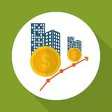 Επίπεδη απεικόνιση του σχεδίου κέρδους, editable διάνυσμα Στοκ Εικόνα