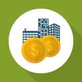 Επίπεδη απεικόνιση του σχεδίου κέρδους, editable διάνυσμα Στοκ Φωτογραφία