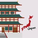 Επίπεδη απεικόνιση του σχεδίου της Ιαπωνίας Στοκ φωτογραφίες με δικαίωμα ελεύθερης χρήσης