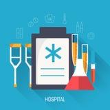 Επίπεδη ιατρική απεικόνιση εργαστηριακών εικονιδίων Στοκ φωτογραφία με δικαίωμα ελεύθερης χρήσης