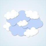 Επίπεδη κάρτα σύννεφων Στοκ φωτογραφία με δικαίωμα ελεύθερης χρήσης