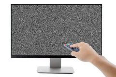 Επίπεδη οθόνη LCD, πλάσμα, χλεύη TV TV επάνω Μαύρο πρότυπο οργάνων ελέγχου HD Στοκ Φωτογραφία