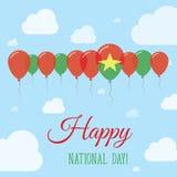 Επίπεδη πατριωτική αφίσα εθνικής μέρας της Μπουρκίνα Φάσο Στοκ φωτογραφίες με δικαίωμα ελεύθερης χρήσης
