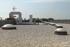 Επίπεδη στέγη αμμοχάλικου Στοκ φωτογραφία με δικαίωμα ελεύθερης χρήσης