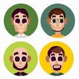 Επίπεδοι χαρακτήρες ατόμων γραφείων Στοκ εικόνα με δικαίωμα ελεύθερης χρήσης