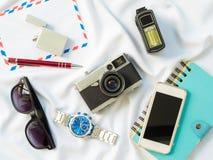 Επίπεδος βάλτε τα genneral στηρίγματα τεχνολογίας Στοκ φωτογραφίες με δικαίωμα ελεύθερης χρήσης