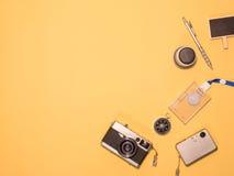 Επίπεδος βάλτε τη κάμερα 1 στοκ εικόνα με δικαίωμα ελεύθερης χρήσης