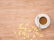 Επίπεδος βάλτε του καφέ 1 Στοκ εικόνες με δικαίωμα ελεύθερης χρήσης