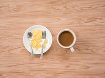 Επίπεδος βάλτε του καφέ 1 Στοκ Εικόνα
