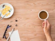 Επίπεδος βάλτε του καφέ 1 Στοκ εικόνα με δικαίωμα ελεύθερης χρήσης