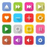 Επίπεδος Ιστός Διαδίκτυο σημαδιών μέσων buton Στοκ φωτογραφίες με δικαίωμα ελεύθερης χρήσης