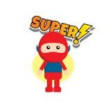 Επίπεδος χαρακτήρας superhero ύφους απεικόνιση αποθεμάτων