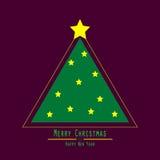 επίπεδος Χριστούγεννα η διανυσματική έκδοση δέντρων χαρτοφυλακίων μου Πράσινο τρίγωνο διανυσματική απεικόνιση