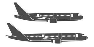 Επίπεδο αεροπλάνο επιβατών Στοκ φωτογραφίες με δικαίωμα ελεύθερης χρήσης