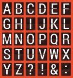 Επίπεδο αλφάβητο αντίστροφης μέτρησης Abc Στοκ Φωτογραφίες