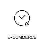 Επίπεδο εικονίδιο ηλεκτρονικού εμπορίου Στοκ Εικόνες