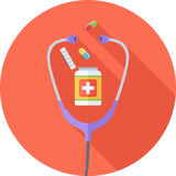Επίπεδο εικονίδιο ιατρικής Στοκ φωτογραφίες με δικαίωμα ελεύθερης χρήσης
