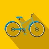 Επίπεδο εικονίδιο ποδηλάτων διανυσματική απεικόνιση