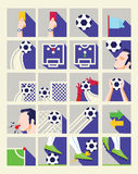 Επίπεδο εικονίδιο ποδοσφαίρου στοκ φωτογραφίες