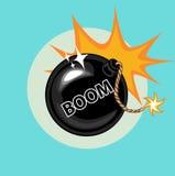 Επίπεδο εικονίδιο σημαδιών βομβών και βραχιόνων Στοκ Εικόνα