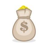 Επίπεδο εικονίδιο σημαδιών τσαντών χρημάτων Στοκ Εικόνα