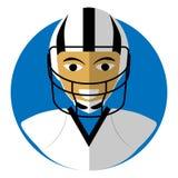 Επίπεδο εικονίδιο του theAmerican ποδοσφαίρου ελεύθερη απεικόνιση δικαιώματος