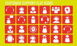Επίπεδο εικονίδιο υποστήριξης πελατών (επαφή) Στοκ εικόνα με δικαίωμα ελεύθερης χρήσης