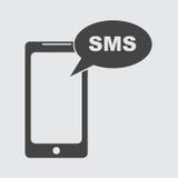 Επίπεδο εικονίδιο smartphone Μήνυμα Sms Στοκ Φωτογραφίες