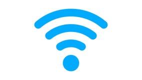 Επίπεδο εικονίδιο WI-Fi με το σχήμα PNG με το ΆΛΦΑ κανάλι διαφάνειας ελεύθερη απεικόνιση δικαιώματος