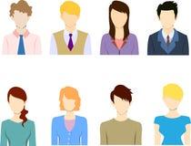 Επίπεδο επιχειρηματιών είδωλο εικονιδίων εικονιδίων επίπεδο Στοκ Εικόνες