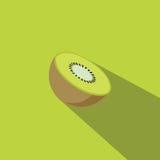 Επίπεδο διάνυσμα σχεδίου φρούτων ακτινίδιων Στοκ εικόνα με δικαίωμα ελεύθερης χρήσης
