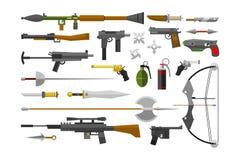 Επίπεδο διάνυσμα όπλων Στοκ Εικόνες