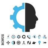 Επίπεδο διανυσματικό εικονίδιο εργαλείων Cyborg με το επίδομα Στοκ Εικόνες