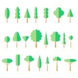 Επίπεδο καθορισμένο εικονίδιο δέντρων Στοκ Φωτογραφίες