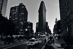 Επίπεδο κτήριο σιδήρου στην πόλη του Μανχάταν Νέα Υόρκη Στοκ Εικόνες