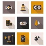 Επίπεδο πετρέλαιο εικονιδίων με το διανυσματικό σχήμα Στοκ εικόνα με δικαίωμα ελεύθερης χρήσης