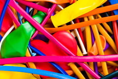 Επίπεδο πολύχρωμο υπόβαθρο μπαλονιών στοκ εικόνες