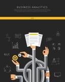 Επίπεδο πρότυπο επιχειρησιακού analytics, διάνυσμα απεικόνιση αποθεμάτων