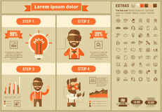 Επίπεδο πρότυπο Infographic σχεδίου εικονικής πραγματικότητας Στοκ Φωτογραφίες