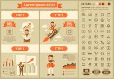 Επίπεδο πρότυπο Infographic σχεδίου τεχνολογίας Στοκ Εικόνες