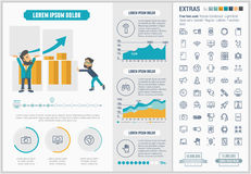 Επίπεδο πρότυπο Infographic σχεδίου τεχνολογίας Στοκ Φωτογραφίες