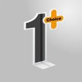 Επίπεδο σχέδιο αριθμός ένα πρώτο Chioce Στοκ εικόνα με δικαίωμα ελεύθερης χρήσης
