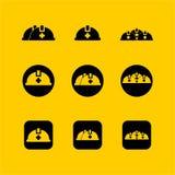 επίπεδο σχέδιο ασφάλειας ΚΑΠ, επίπεδο σχέδιο εικονιδίων Ιστού Στοκ Φωτογραφία
