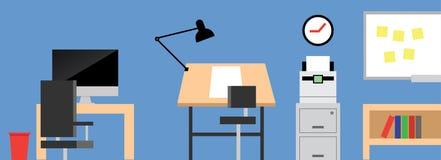 Επίπεδο σχέδιο γραφείων στούντιο σχεδίου Στοκ φωτογραφία με δικαίωμα ελεύθερης χρήσης
