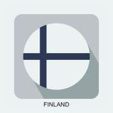 επίπεδο σχέδιο εθνικών σημαιών, σημαία της Ευρώπης, ασιατική σημαία Στοκ Εικόνες