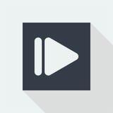 επίπεδο σχέδιο εικονιδίων κουμπιών τεχνολογίας, εικονίδιο σχεδίου μουσικής στούντιο Στοκ Εικόνες